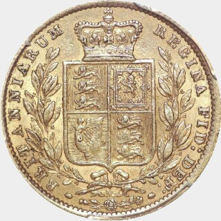 1872-M  Full Sovereign reverse