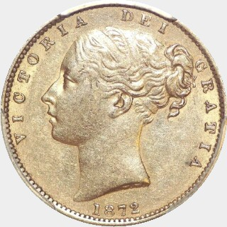 1872-M  Full Sovereign obverse