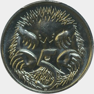 1997  Five Cent reverse