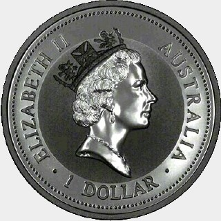 1997-P Silver One Dollar obverse