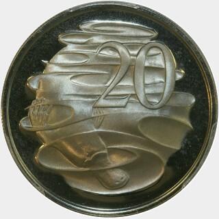 1973 Proof Twenty Cent reverse