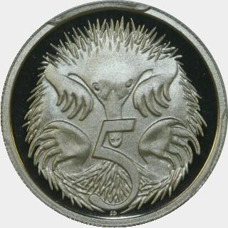 1997 Proof Five Cent reverse