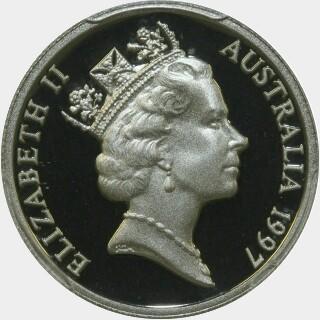 1997 Proof Five Cent obverse
