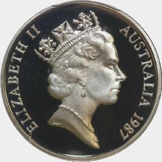 1987 Proof Five Cent obverse
