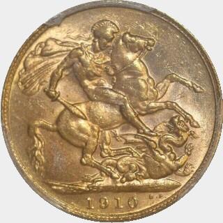 1910-P  Full Sovereign reverse