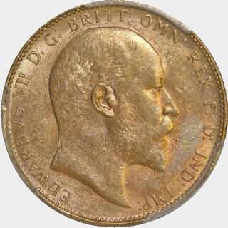 1910-P  Full Sovereign obverse