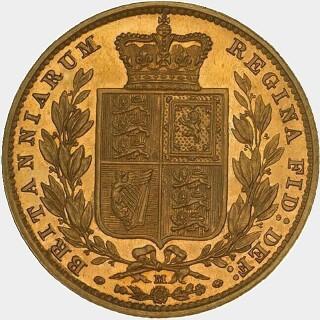 1883-M Proof Full Sovereign reverse