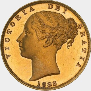 1883-M Proof Full Sovereign obverse