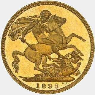 1893-M Proof Full Sovereign reverse