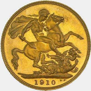1910-M Proof Full Sovereign reverse