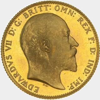 1910-M Proof Full Sovereign obverse