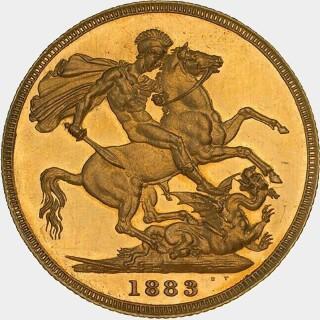 1883-M Proof Wide Truncation Short Tail Full Sovereign reverse