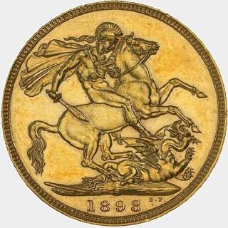 1893-S Proof Full Sovereign reverse