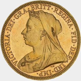 1893-S Proof Full Sovereign obverse