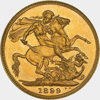1899-P Proof Full Sovereign reverse