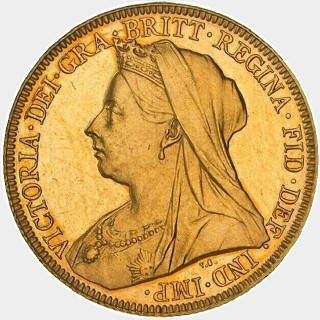 1899-P Proof Full Sovereign obverse