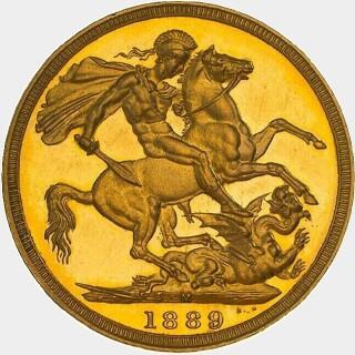 1889-M Proof Full Sovereign reverse
