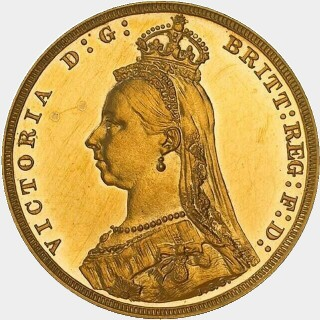 1889-M Proof Full Sovereign obverse