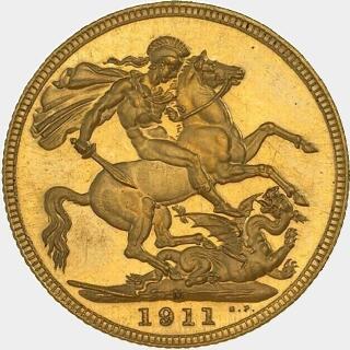 1911-M Proof Full Sovereign reverse