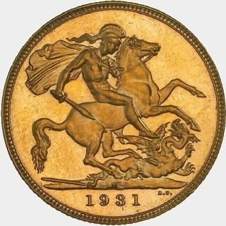 1931-M Proof Full Sovereign reverse