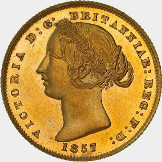 1857 Milled Edge Proof Full Sovereign obverse