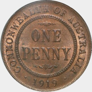 1919 Dot Below Lower Scroll Penny reverse