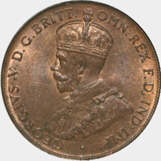 1919 Dot Below Lower Scroll Penny obverse