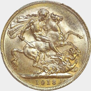 1913-M  Full Sovereign reverse