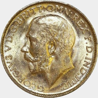 1913-M  Full Sovereign obverse