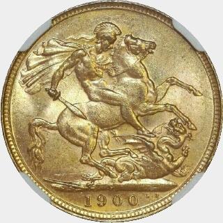 1900-P  Full Sovereign reverse