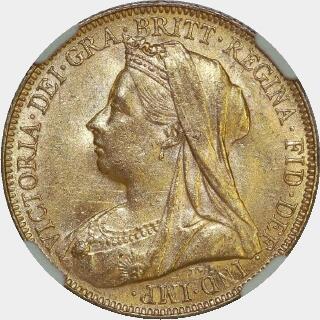 1900-P  Full Sovereign obverse