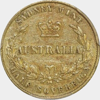 1865  Half Sovereign reverse
