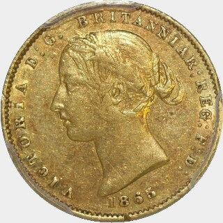 1865  Half Sovereign obverse