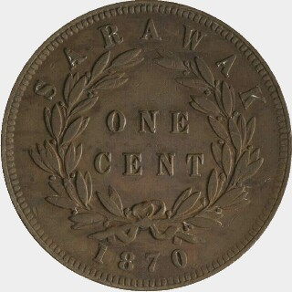 1887 Proof One Cent reverse