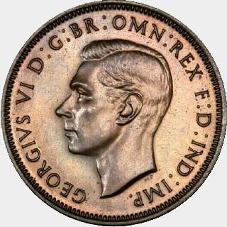 1938 Proof Half Penny obverse