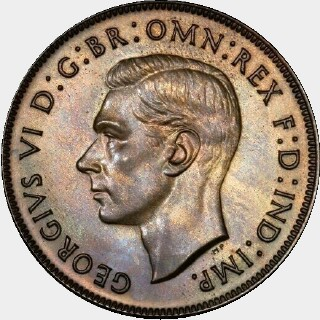 1938 Proof Penny obverse