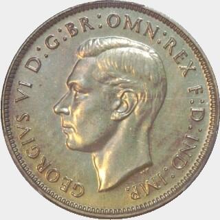 1938 Proof Florin obverse