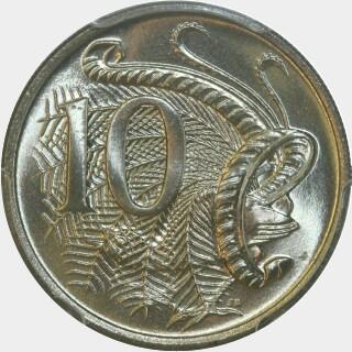 1970  Ten Cent reverse