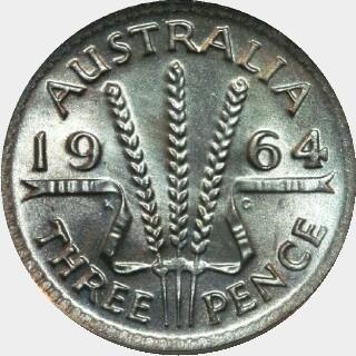 1964  Threepence reverse