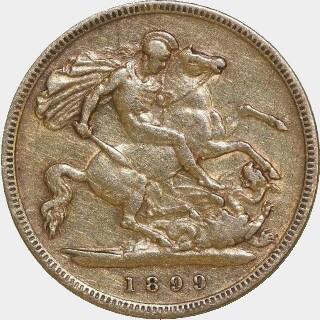 1899-M  Half Sovereign reverse