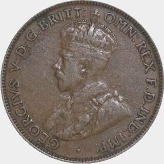 1923  Half Penny obverse