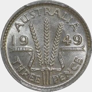 1949  Threepence reverse