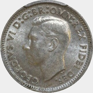 1949  Threepence obverse