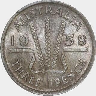 1958  Threepence reverse