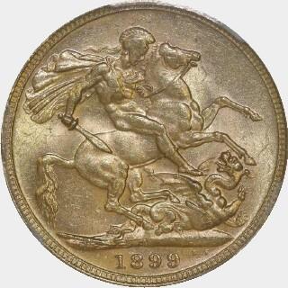 1899-M  Full Sovereign reverse