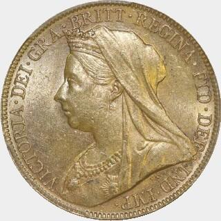 1899-M  Full Sovereign obverse