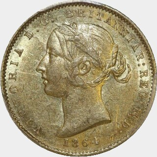 1864  Half Sovereign obverse