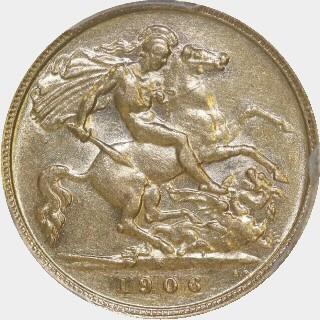 1906-S  Half Sovereign reverse