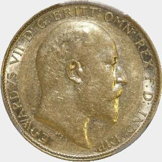 1906-S  Half Sovereign obverse