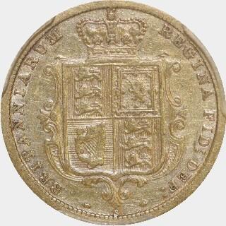 1887-S Beaded Reverse Half Sovereign reverse